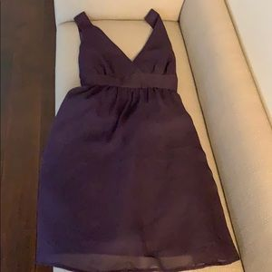 Purple Gauze Empire Waist Sash tie Sleeveless Dres